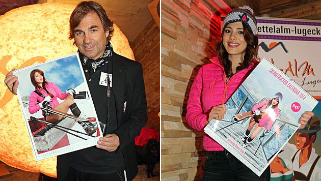 Skilehrerinnenkalender: Dagi vor Hohenlohes Linse (Bild: Kristian Bissuti)