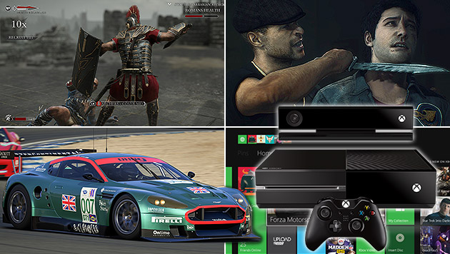 "Xbox One: So spielen sich ""Forza"", ""Ryse"" und Co. (Bild: Microsoft, Capcom, Crytek, krone.at-Grafik)"