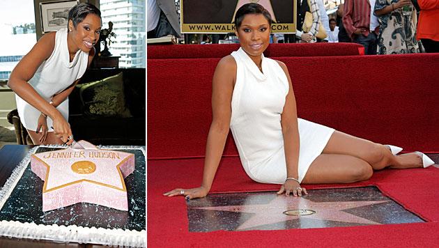 "Jennifer Hudson enthüllte Stern auf ""Walk of Fame"" (Bild: AP)"