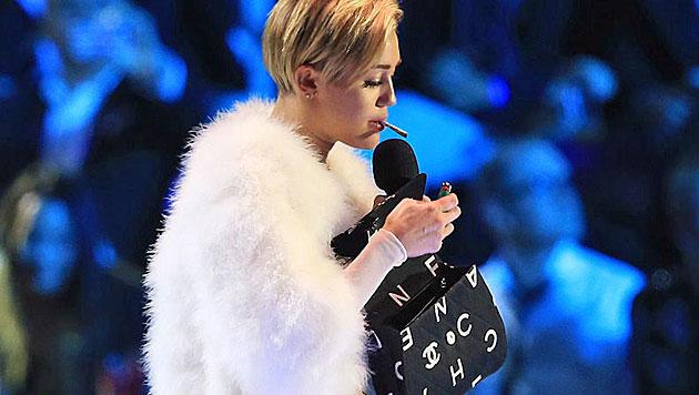 """Miley Cyrus: """"Joint-Auftritt war nicht geplant"""" (Bild: EPA)"""