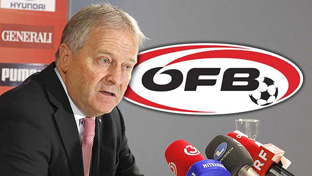 ÖFB: Keine Mehrheit für Windtner vor Wiederwahl? (Bild: GERHARD GRADWOHL, krone.at-Grafik)