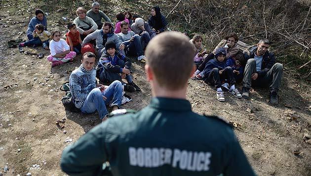 Flüchtlinge in Bulgarien (Bild: EPA)