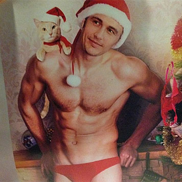 James Franco posiert als sexy Santa Claus (Bild: Instagram)