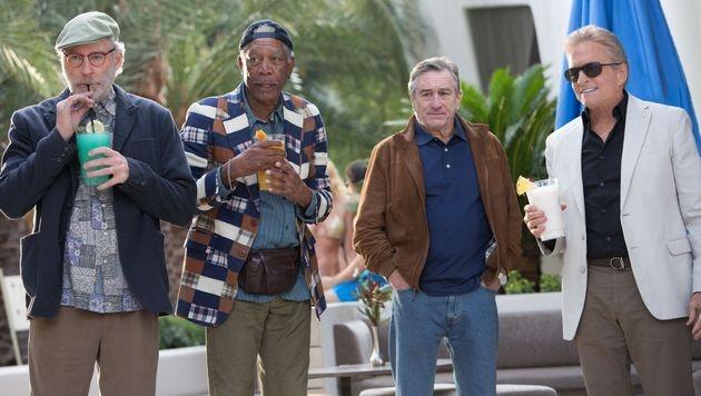 DeNiro, Freeman, Kline und Douglas im Interview (Bild: AP)