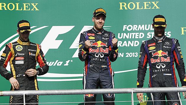 Vettel knackt mit Sieg in Austin Schumacher-Rekord (Bild: AP)