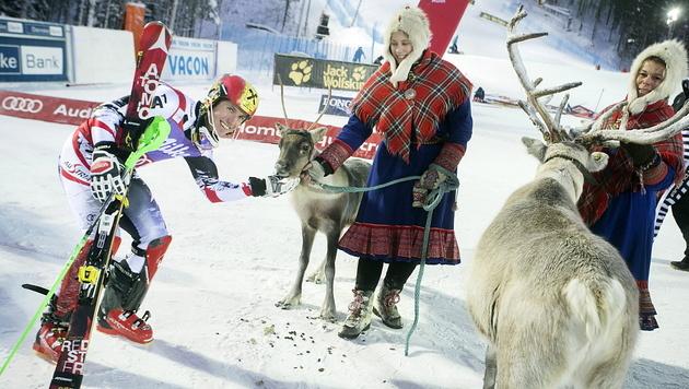 Hirscher bleibt im Slalom die klare Nummer eins (Bild: EPA)