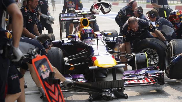Red Bull stellt neuen Boxenstopp-Weltrekord auf (Bild: EPA)