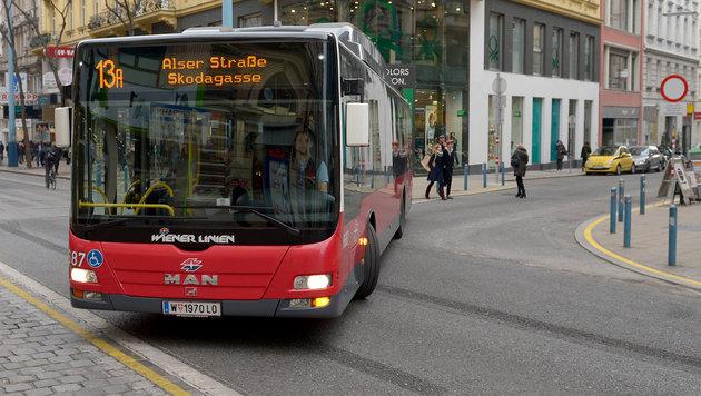 Wien: Kapazität der Linie 13A wird vergrößert (Bild: APA/ROLAND SCHLAGER)