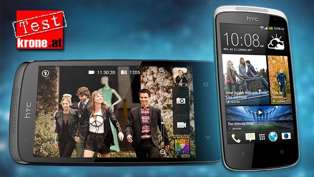 Android für Einsteiger: HTC Desire 500 im Test (Bild: HTC, thinkstockphotos.de, krone.at-Grafik)