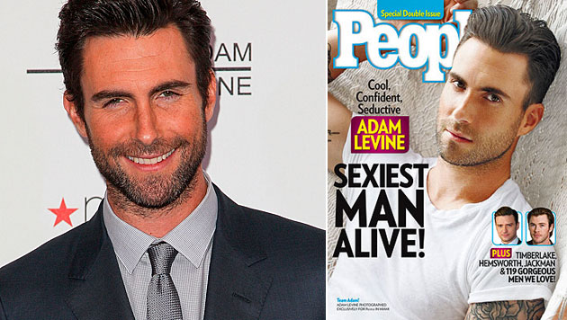 """People"" kürt Adam Levine zum ""Sexiest Man Alive"" (Bild: AP, People)"
