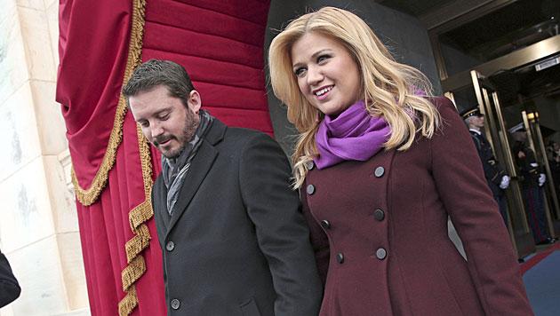 Kelly Clarkson und ihr Ehemann (Bild: AP)