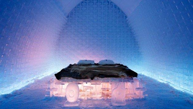 Eishotel in Schweden muss Brandmelder einbauen (Bild: Icehotel/Leif Milling)