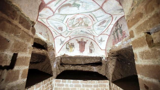 Umstrittene antike Fresken jetzt auf Google Maps (Bild: AP)
