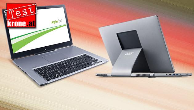 Acers eigentümliches Touch-Notebook R7 im Test (Bild: Acer, krone.at-Grafik)