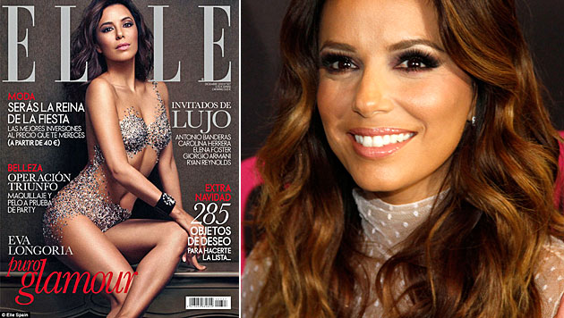 "Eva Longoria so gut wie nackt auf ""Elle""-Cover (Bild: Elle, AP)"