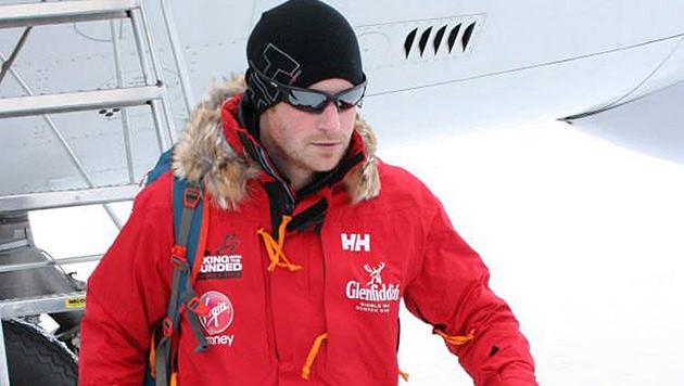 Prinz Harry bei Charity-Expedition im ewigen Eis (Bild: APA/EPA/WWTW/WALKING WITH THE WOUNDED/HANDOUT)