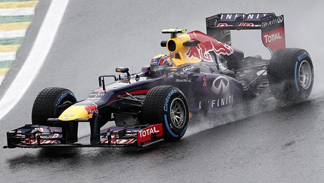 Vettel holt im Regen Pole vor Rosberg und Alonso (Bild: AP)