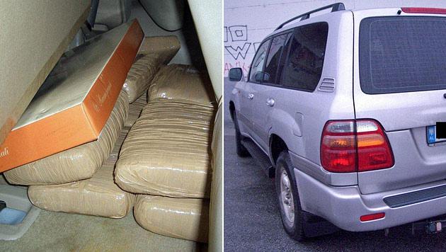 Mann transportiert zehn Kilo Marihuana in Auto (Bild: Polizei)