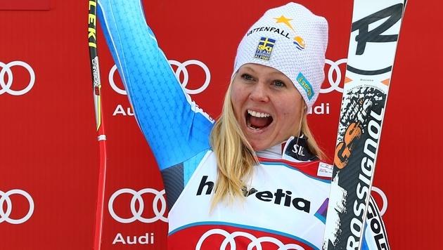 Lindell-Vikarby überrascht, ÖSV-Damen enttäuschen (Bild: AP)