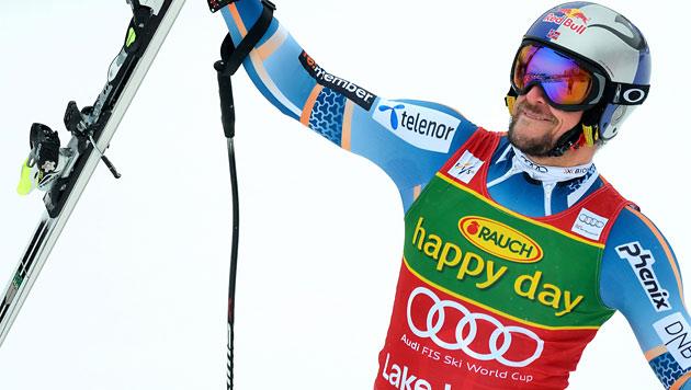 Svindal gewinnt vor Mayer und Streitberger (Bild: EPA)