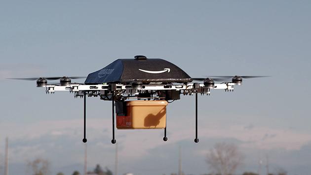Amazons Liefer-Drohnen gehen in die Testphase (Bild: AFP)