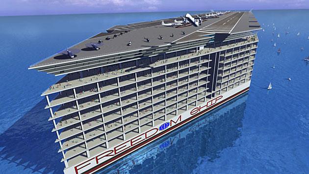 US-Firma plant Riesenschiff für 50.000 Menschen (Bild: Freedom Ship International)
