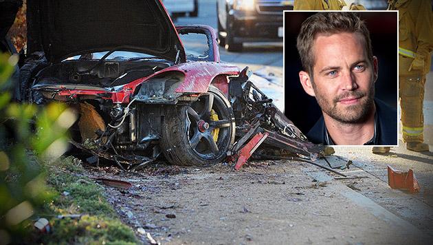 Walker: Freunde wollten ihn aus Flammen retten (Bild: AP, krone.at-Grafik)