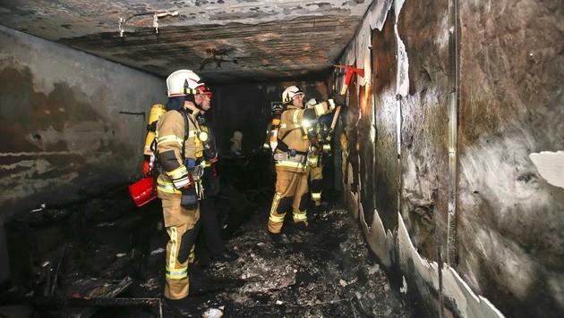 Zwei Verletzte bei Wohnungsbrand in Salzburg (Bild: MARKUS TSCHEPP)