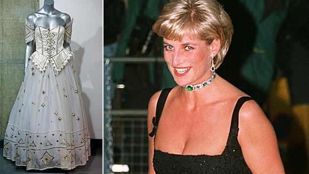 Märchen-Kleid von Prinzessin Diana versteigert (Bild: AP, EPA)