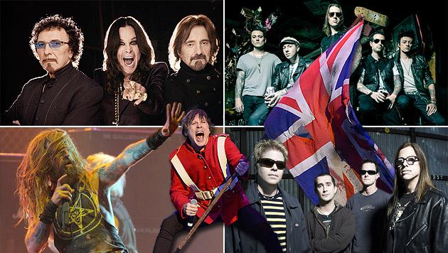 Iron Maiden verstärken das Nova-Rock-Line-Up (Bild: Warner Music, AP, Universal Music, Fmservice, krone.at-Grafik)