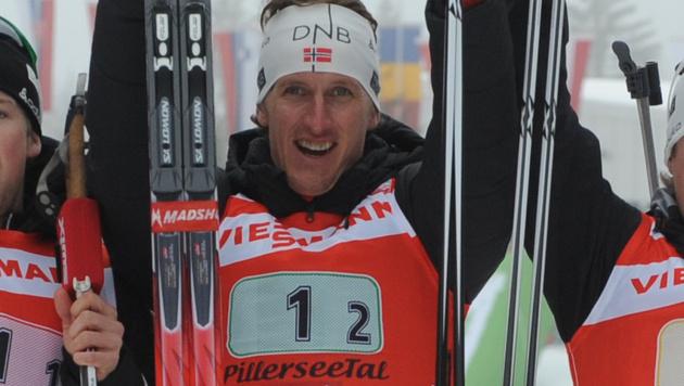 Biathlon-Sieg für Norweger Berger, Sumann Fünfter (Bild: APA/BARBARA GINDL)