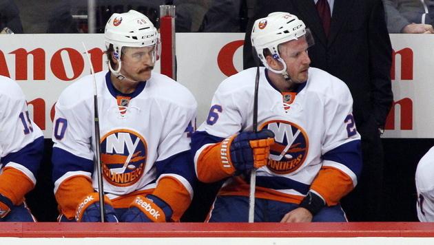 Grabner und Vanek warten mit NY weiter auf Sieg (Bild: EPA)