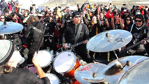 Metallica spielten einen eisigen Öko-Gig (Bild: twitter.com/metallica/media)
