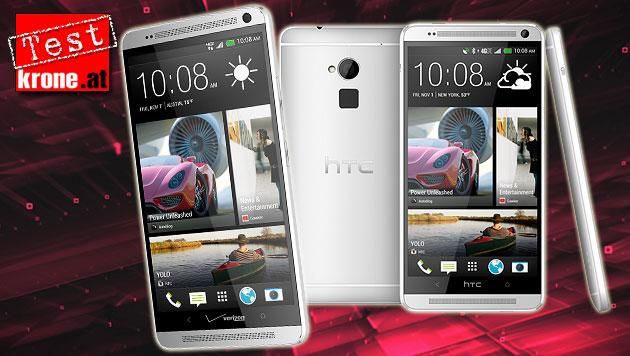 HTC One Max: Gigant mit Fingerabdruck-Sensor (Bild: HTC, thinkstockphotos.de, krone.at-Grafik)