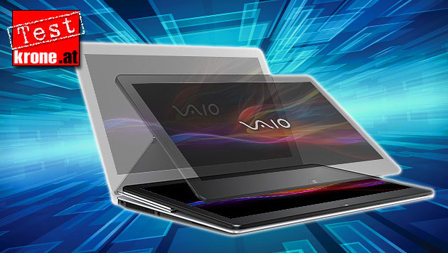 "Sonys neuer ""Vaio Fit multi-flip PC"" im Klapp-Test (Bild: Sony, thinkstockphotos.de, krone.at-Grafik)"