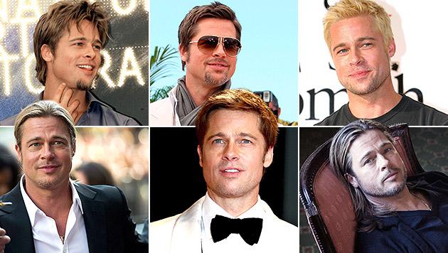 Vom Sexsymbol zum Familienvater: Brad Pitt wird 50 (Bild: AP, EPA, krone.at-Grafik)
