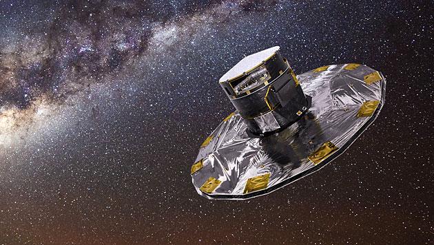 """ESA-Satellit """"Gaia"""" erfasste eine Milliarde Sterne (Bild: ESA/ATG Medialab, ESO/S. Brunier)"""