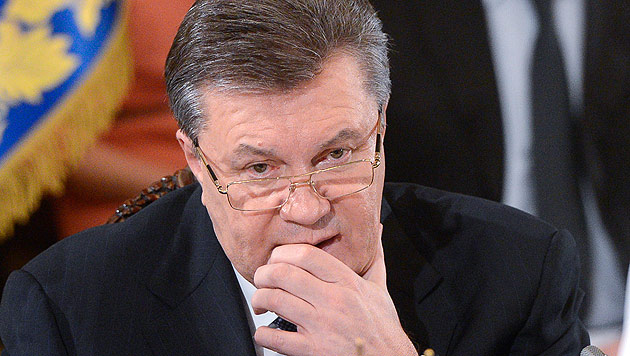 Janukowitsch verteidigt Russland-Kurs (Bild: AP)