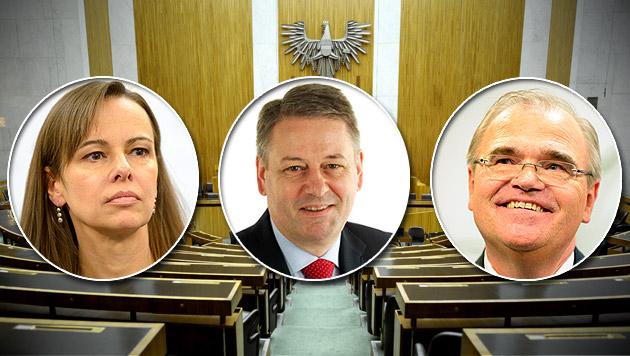 ÖVP überrascht mit neuen Gesichtern (Bild: APA, krone.at-Grafik)