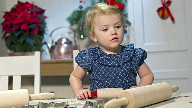Prinzessin Estelle ist schon in Weihnachtsstimmung (Bild: kungahuset.se/Kate Gabor)