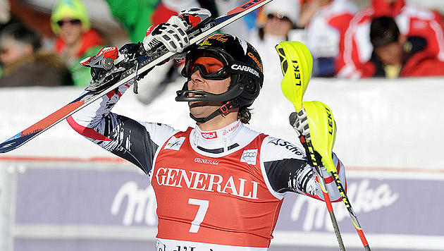 "Slalom-Oldie Mario Matt triumphiert in Val d""Isere (Bild: AP)"