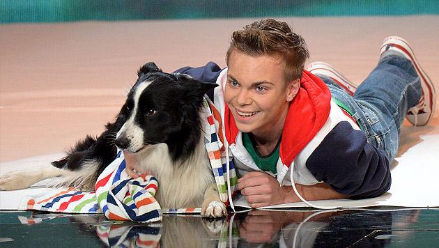 """Wiener gewinnt RTL-""""Supertalent"""" mit Hund """"Falco"""" (Bild: APA/dpa/Henning Kaiser)"""