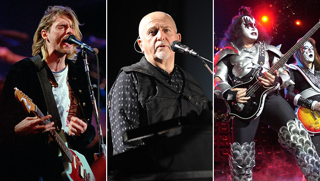 Kiss, Nirvana und Gabriel in Rock-Ruhmeshalle (Bild: AP, APA/HERBERT P. OCZERET)