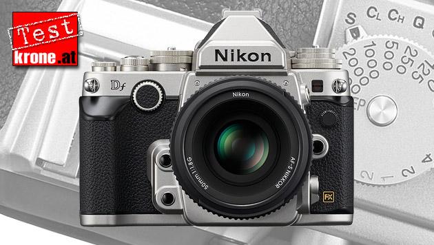 Nikon Df: Moderne Spiegelreflex im alten Gewand (Bild: Nikon, krone.at-Grafik)