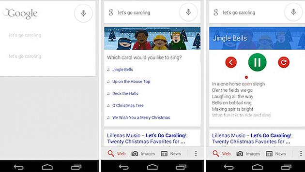 """Weihnachtliches """"Osterei"""" von Google in Browser (Bild: Screenshot)"""
