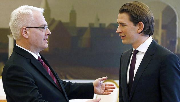 "Kurz in Kroatien: ""Energischer Mann mit Maß"" (Bild: APA/DRAGAN TATIC)"