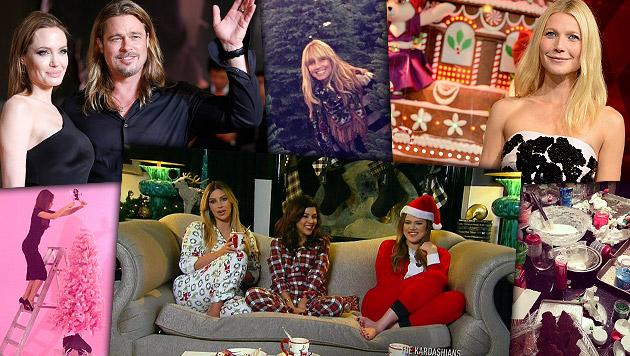Merry X-mas! So feiern die Stars Weihnachten (Bild: AP, Twitter, Instagram)