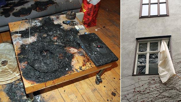 Wien: Explosion bei Zimmerbrand - Fenster zerstört (Bild: Andi Schiel)