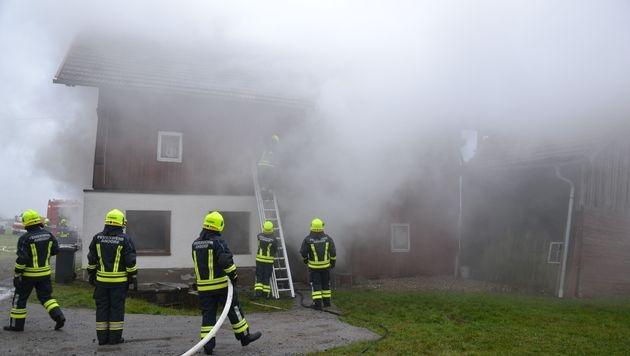 Adventkranz in Flammen: Mutter und Sohn verletzt (Bild: FF Andorf)