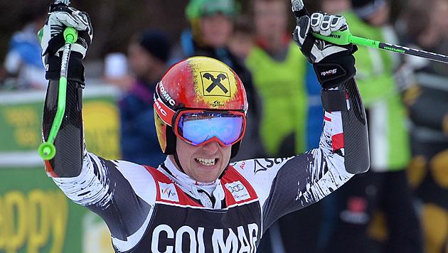 Hirscher gewinnt vor Pinturault, Raich Siebenter (Bild: EPA)